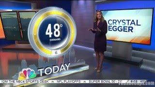 Crystal Egger - NBC4 Los Angeles HD 02/01/2016