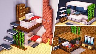 Minecraft - 4 Design Unik Ruangan Tempat Tidur Kecil !