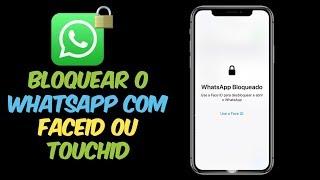 Agora vc pode #bloquear o #WhatsApp com #FaceID ou TouchID no seu iPhone.. Veja como Funciona!