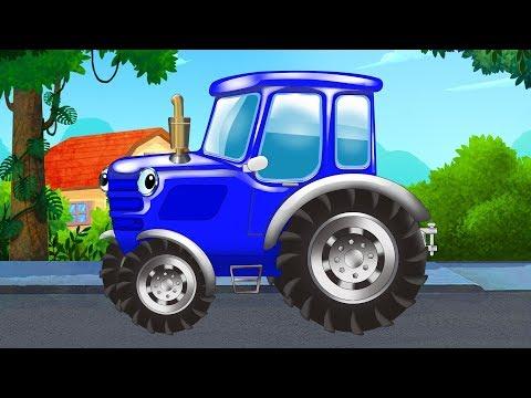 Песенки для детей - Едет трактор - Синий трактор - Мультик про машинки
