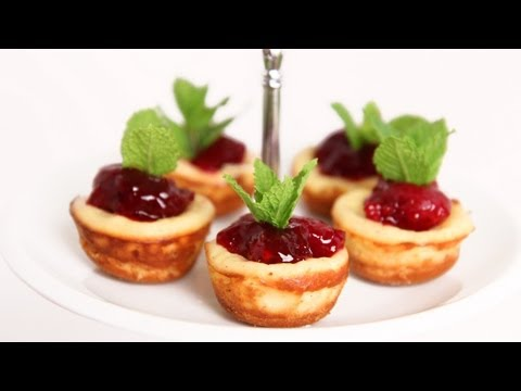 Mini Cherry Cheesecake Recipe – Laura Vitale – Laura in the Kitchen Episode 622
