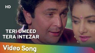 Teri Ummid Tera Intezar (HD) | Deewana Song | Rishi Kapoor | Divya Bharti | Filmigaane