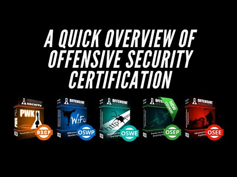 A quick look at the Offensive Security Certifications - YouTube