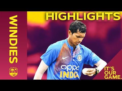 Saini Shines On Debut | Windies vs India - Match Highlights | 1st IT20 2019
