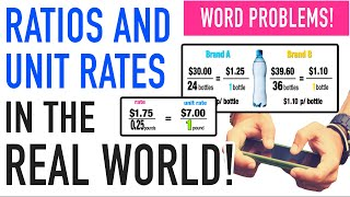 ☆ Apply Unit Rates and Ratios in the Real World | Common Core Math