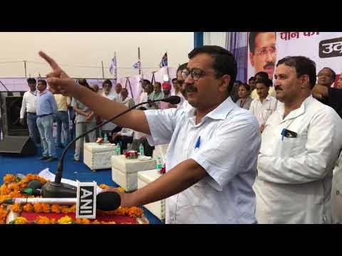 Delhi CM Arvind Kejriwal at the inauguration of water Pipe Line in Bawana