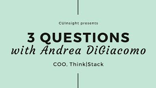 3 questions with Think|Stack's Andrea DiGiacomo