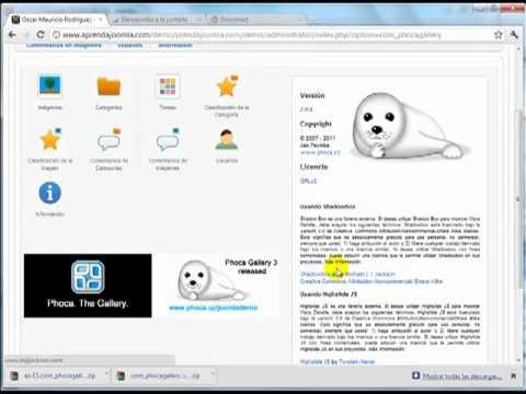 Componente Joomla para crear galerías de imágenes – Phoca Gallery