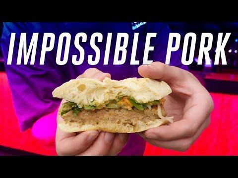 Impossible Foods Pork first taste at CES 2020