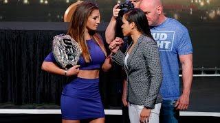UFC 200: Miesha Tate vs. Amanda Nunes Staredown - Video Youtube