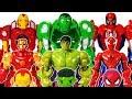 Avengers Defeat Romeo With Mech Armors Hulk Spider man Iron man