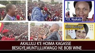 Bobi Wine,Besigye,Muntu Ne Lukwago Bakawtaganye E Hoima Okuwangula NRM