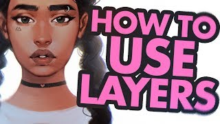 How To Use LAYERS For Digital Painting