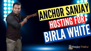 Anchor Sanjay Potdar hosting for BIRLA WHITE WOW MEET | Anchor in pune|