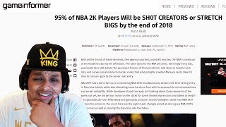 Study: 95% of NBA 2K Players Will be SH0T CREATORS or STRETCH BIGS by the end of 2018