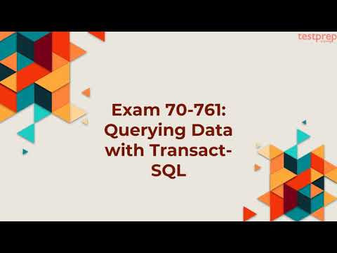 How to prepare for Exam 70-761 ? - YouTube