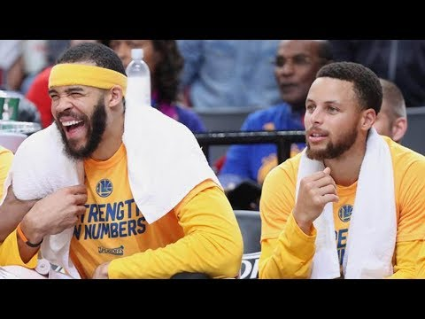 Steph Curry & JaVale McGee Make a Fanny Pack Bet