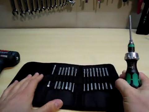 Wera Kraftform Kompakt 60 RA, Toller Ratschen Schraubendreher Bitsatz mit Nylontasche