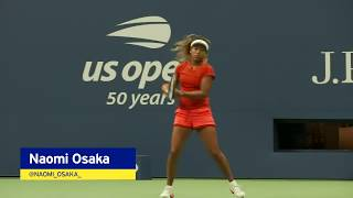 Naomi Osaka Warms Up Before 2018 US Open Women's Final Against Serena Williams