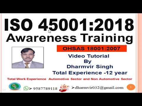 ISO 45001 2018 Awareness Training - YouTube