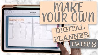 Create A DIGITAL PLANNER With Calendars And Weekly Spreads On Keynote (Part 2)