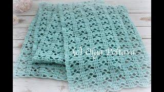 How To Crochet Elegant Lace Scarf, Crochet Shoulder Wrap, Crochet Shawl, Crochet Video Tutorial