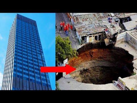 वो गड्ढा जो पूरी ईमारत खा गया | Sinkholes Caught Swallowing Things On An EPIC Scale