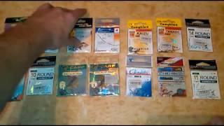 Размеры и номера рыболовных крючков