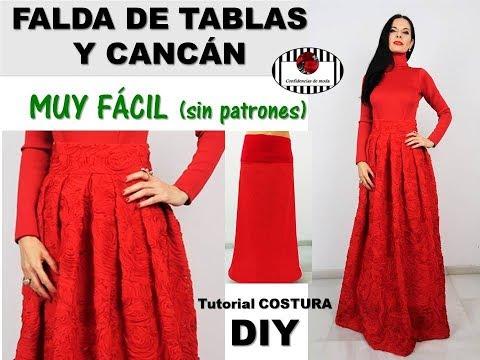 DIY Tutoriales y patrones  Falda Midi Valentino - Oh d6f586eaf106