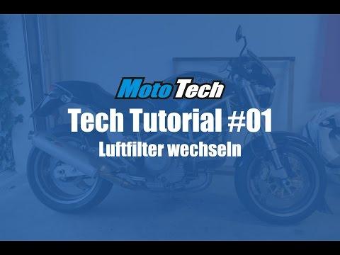 MotoTech Tutorial #01 - Motorrad Luftfilter wechseln