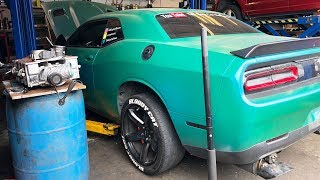 THEY HAD TO TAKE OFF BOTH OF THE HELLCATS SUPERCHARGERS! THIS CAN'T BE GOOD..