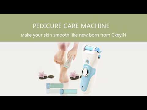 Ckeyin ® Professionale potente elettrico ricaricabile rimozione del callo del piede di cura