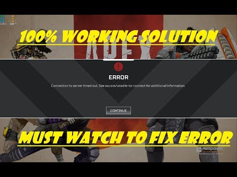 "Apex Legends ""Connection To Server Error"" 