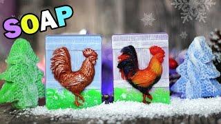 DIY: Soap ● Новогоднее МЫЛО Яркий ПЕТУШОК ● Мастер-класс ● Мыловарение