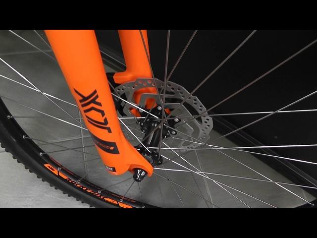 Видео Велосипед KTM Chicago Disc black matt (orange)