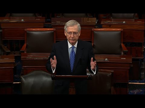 "Senate Majority Leader Mitch McConnell is declaring ""case closed"" on the Russia probe and potential obstruction by President Donald Trump, while Minority Leader Chuck Schumer is calling for greater accountability for a ""lawless president."" (May 7)"