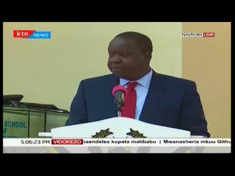 Waziri wa usalama Fred Matiang'i ahutubia umma kuhusiana na usalama na mtihani unaokuja