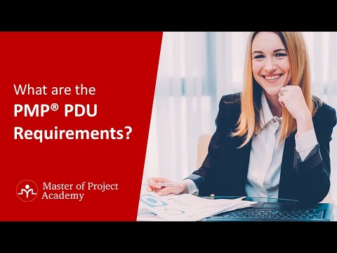 What are the PMP® PDU Requirements? - YouTube