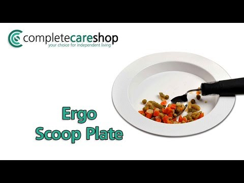 Ergo Scoop Plate Blue Demo