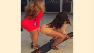 Queen Twerk and Friend Show Off Big Buns and Twerk Wildly in a Public Mall