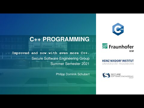 C++ Programming SS21 - Week 6