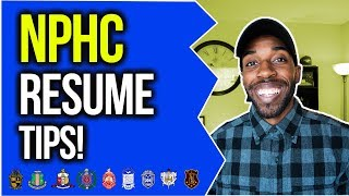 HOW TO PREPARE A RESUME FOR NPHC ORGS | NPHC ADVICE | COREY JONES