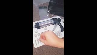 Unboxing Master Class Deluxe Stainless Steel Cookie Press, icing gun with 22 pieces. Review product