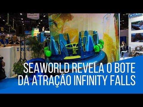 O SeaWorld já revelou como será o bote da sua nova atração Infinity Falls