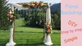 Floral Backdrop / Wedding Arch / Wedding Decoration