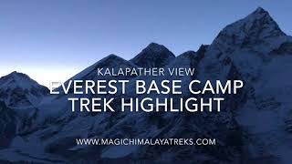 Everest base camp trek on Nepal side is traveler choice since long time. Base camp is the place where the expeditions group tented their camp. http://www.magichimalayatreks.com/everest-base-camp-trek/