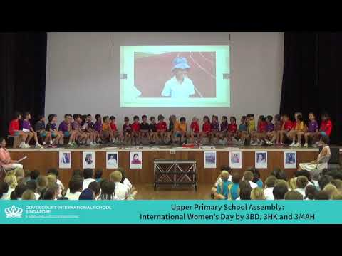Upper Primary School Assembly: International Women's Day by 3BD
