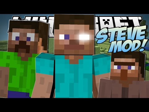 Minecraft | STEVE MOD (Creeper Steve, Killer Steves & More!) | Mod Showcase