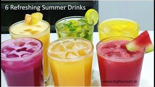 6 Refreshing Summer Drinks/6Easy Fruit juice Recipes for Summers/Fruit Juice/Summer Drink/myflavours