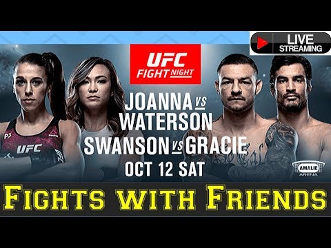 UFC Joanna vs Waterson, Gracie vs Cub Swanson Live Play by Play MMA with Friends